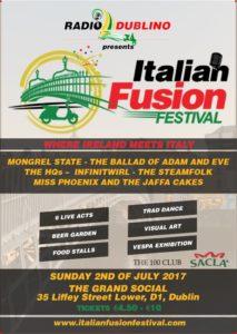 Italian Fusion Festival Flyers 2017