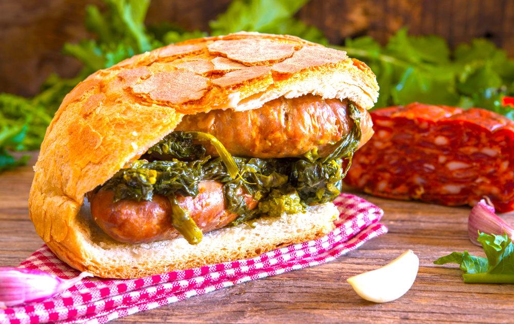 italian sausage sandwich